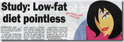 Low fat diets poitless?
